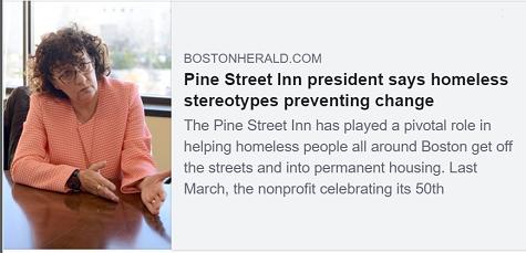 Boston Herald: Pine Street Inn president says homeless stereotypes preventing change