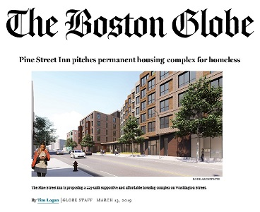 Boston Globe: Pine Street Inn pitches permanent housing complex for homeless