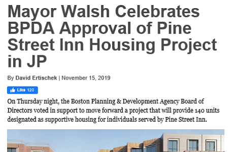 Jamaica Plain News: Mayor Walsh Celebrates BPDA Approval of Housing Project in JP