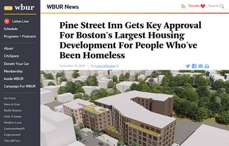 WBUR: Pine Street Gets Key Approval