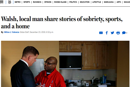 Walsh, local man share stories of sobriety, sports, and a home