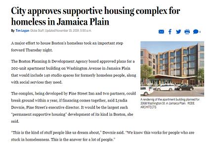 Boston Globe: BPDA approves Pine Street Inn's newest housing development