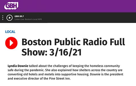 Boston Public Radio: Lyndia on Covid's impact one year later
