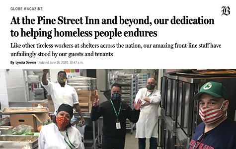 Globe Magazine: Our dedication to helping homeless people endures