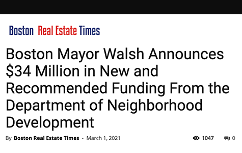 Mayor Walsh Announces New Funding from DND